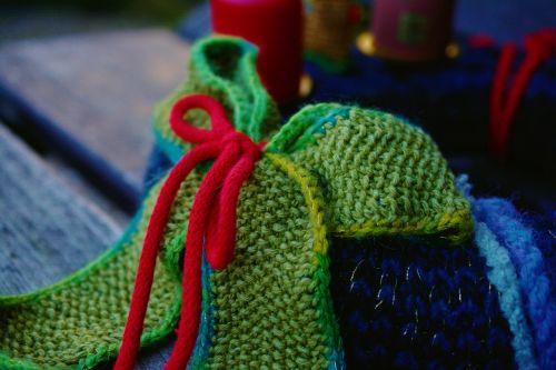 knit wool loop