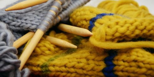 knit wool knitting