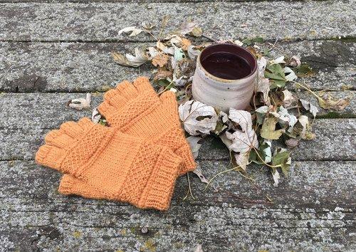 knit  mitts  autumn