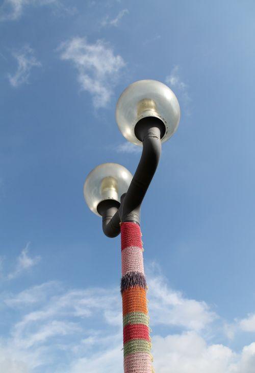 knit lantern art
