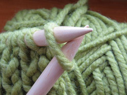 knit knitting needles wool
