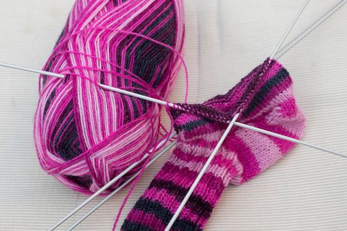 knitted fabric  knitting  socks