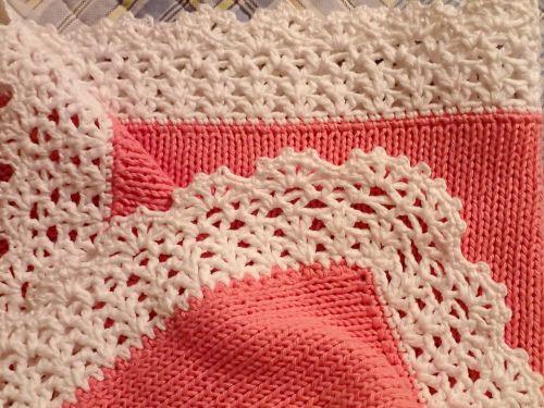knitting baby blanket baby girl