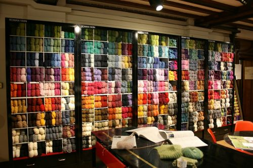 knitting skeins of wool crochet