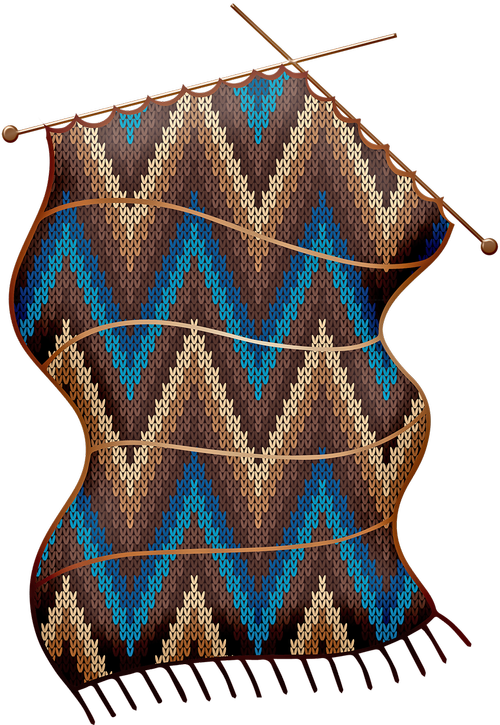 knitting  crochet  zig zag pattern