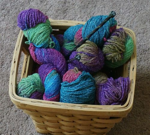 knitting basket knitting yarn