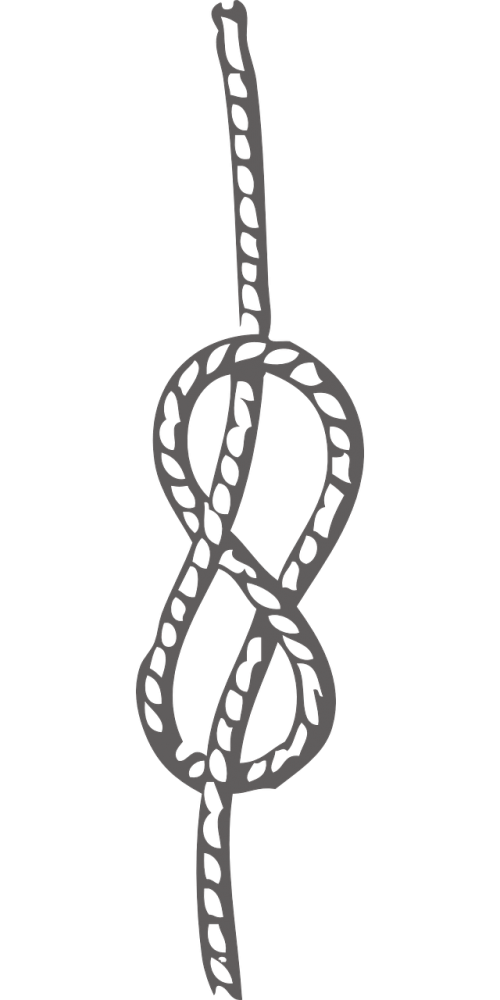 knot figure eight rope