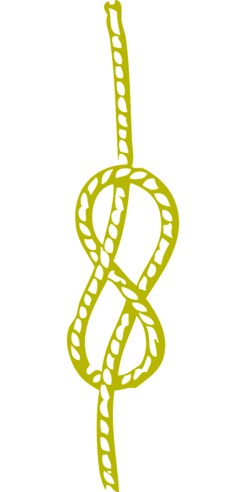 knot yellow rope