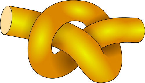 knot tied yellow