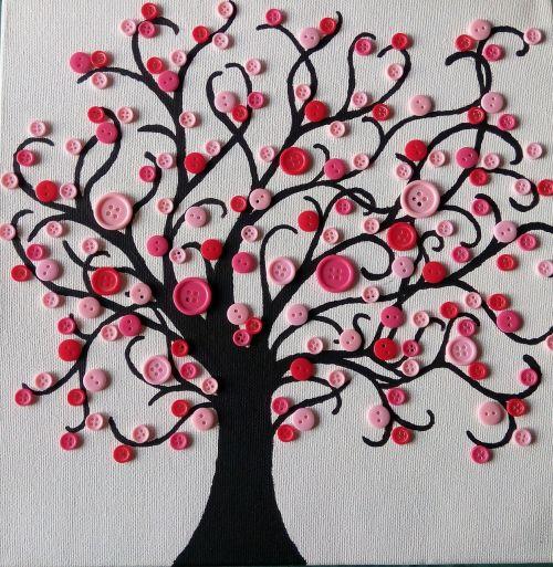 knots tree pink