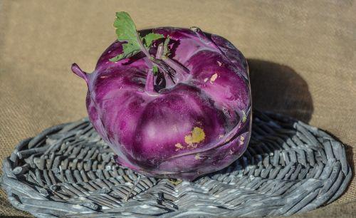 kohlrabi vegetable purple