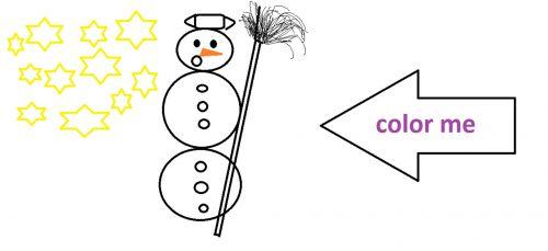 Coloring - Snowman