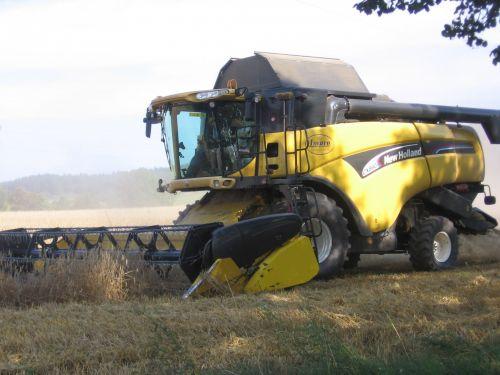 Combine At Harvest