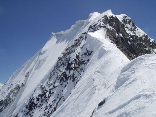 königsspitze cornice ridge