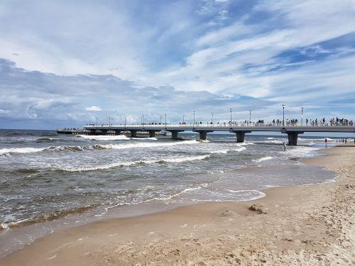 kołobrzeg beach the coast of the baltic sea