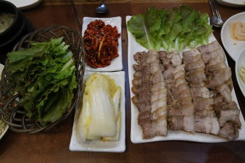 korean food bossam food
