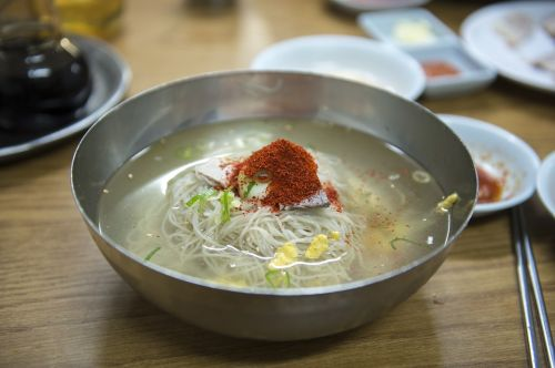 korean food pyongyang cold noodles cold noodles