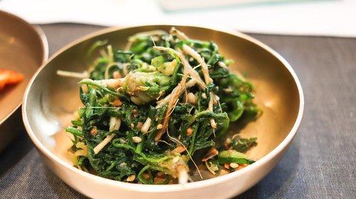 korean food  side dish  herbs