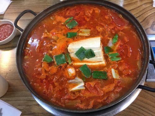 korean stew tofu spicy