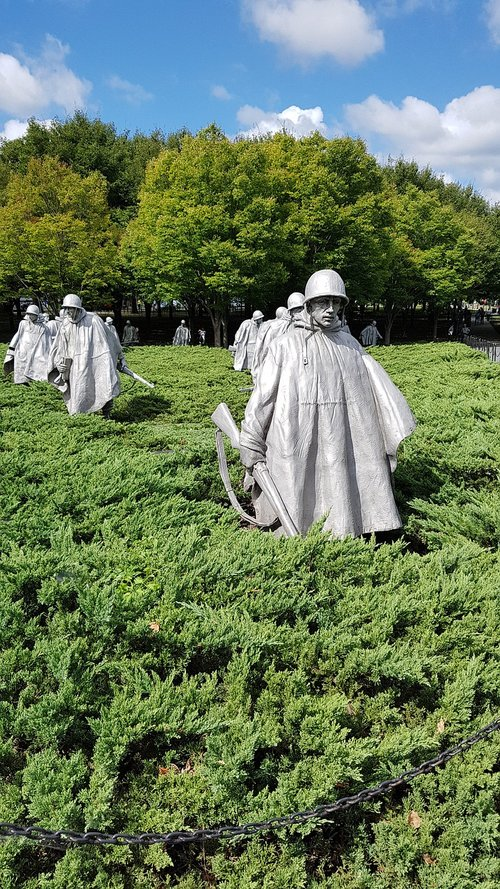 korean veterans war memorial  the korean war  washington