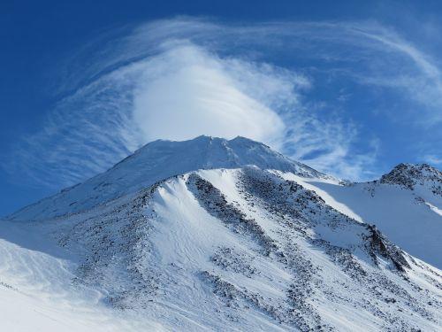 koryaksky volcano kamchatka winter