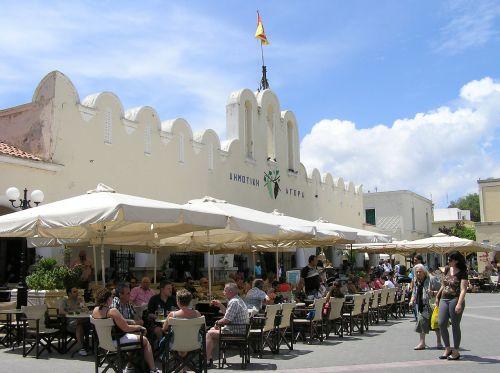 kos market greek island
