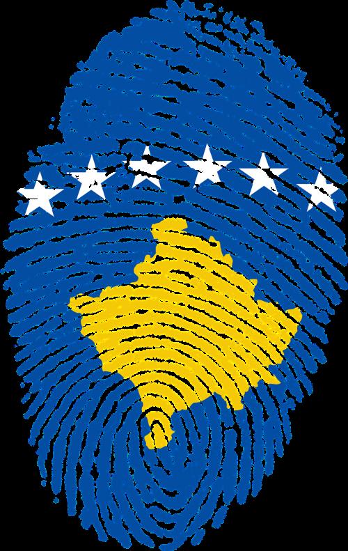 kosovo flag fingerprint
