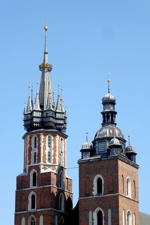 krakow  st mary's church  steeple
