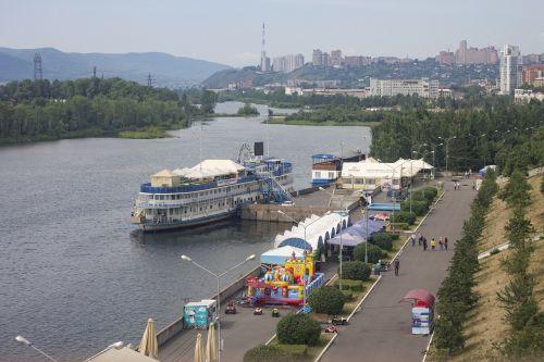 krasnoyarsk quay city