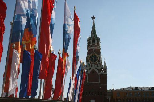 kremlin flags victory day celebration