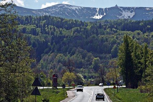krkonoše giant mountains  the mountains landscape  view