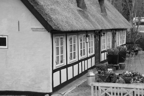 kro thatched black and white
