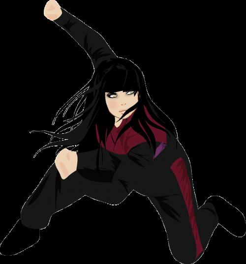 kung fu martial art girl