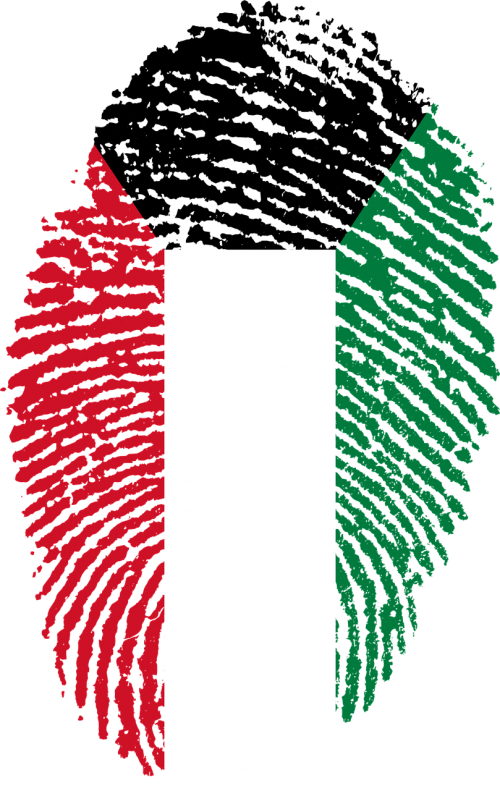 kuwait flag fingerprint
