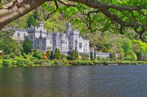 kylemore abbey  ireland  castle