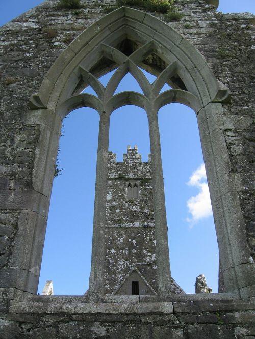 kylemore abbey ruin monastery