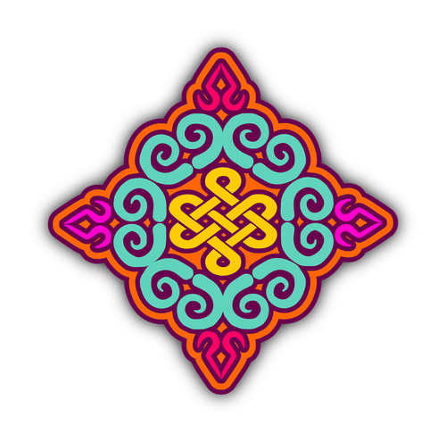 kyrgyz  pattern  mandala