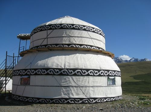 kyrgyzstan yurt mountain