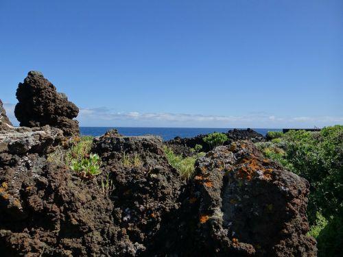 la palma canary island volcanic rock
