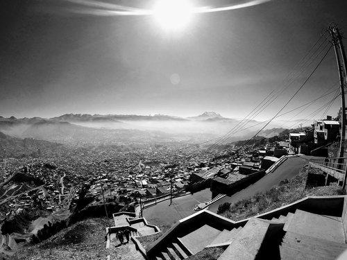 la paz  bolivia  mountain