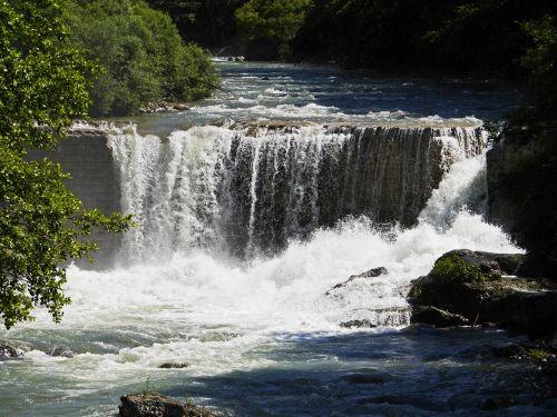 la vésubie alps river waterfall