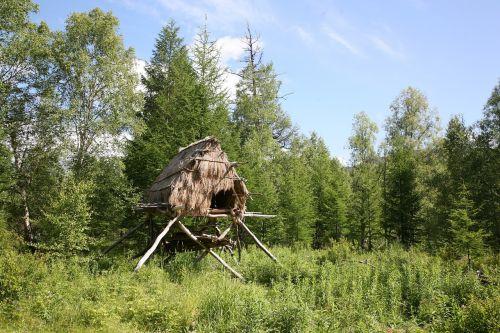labaz dwelling evens house on stilts