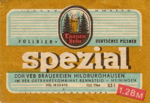 label beer ddr