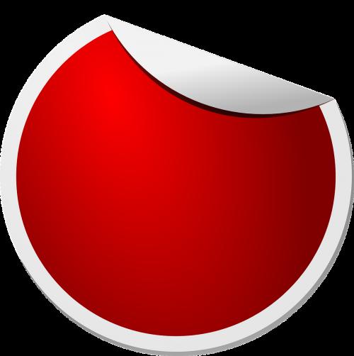 label sticker red