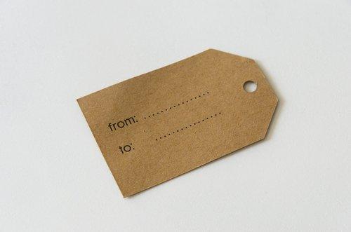 label  paper  kraft