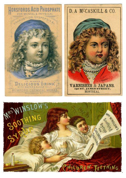 labels vintage children