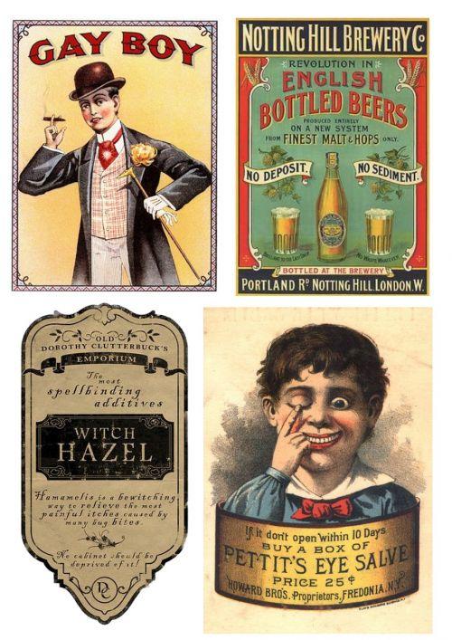 labels vintage funny