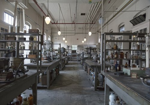 laboratory  chemical  vintage