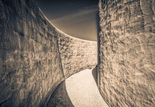 labyrinth stone wall