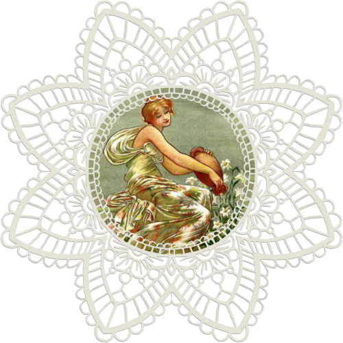 lace vintage woman